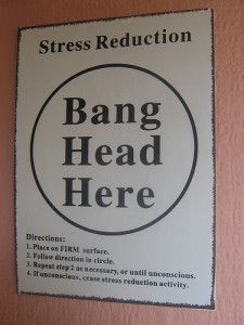 Stress Relief Bang Head Here