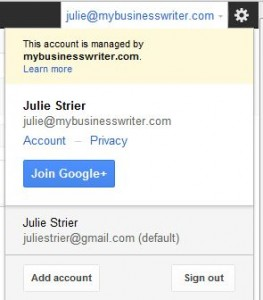 Google Multiple Account Sign In