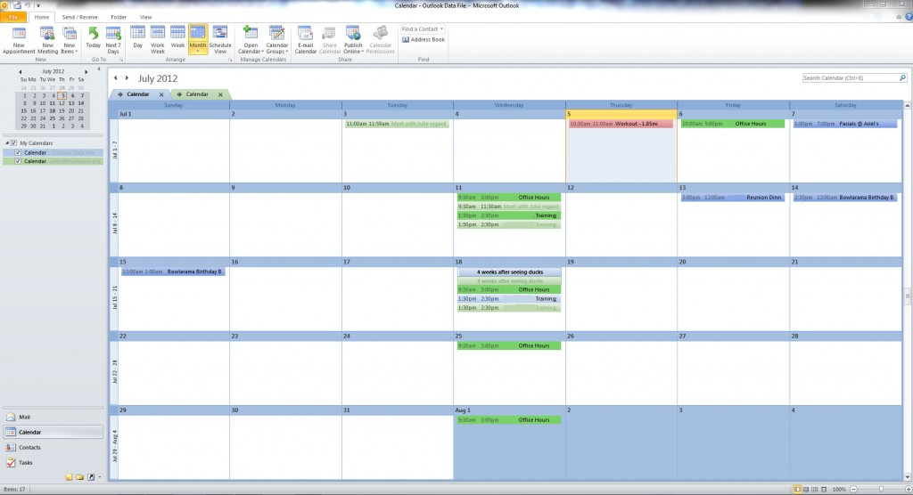 Outlook-Calendar