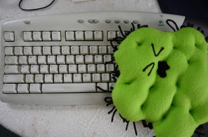 Germs on Keyboard
