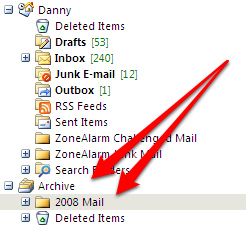 Outlook Archive