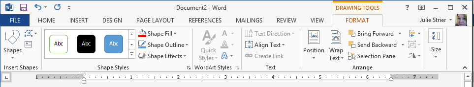 Accessing the Selection Pane from the Ribbon in Word 2013