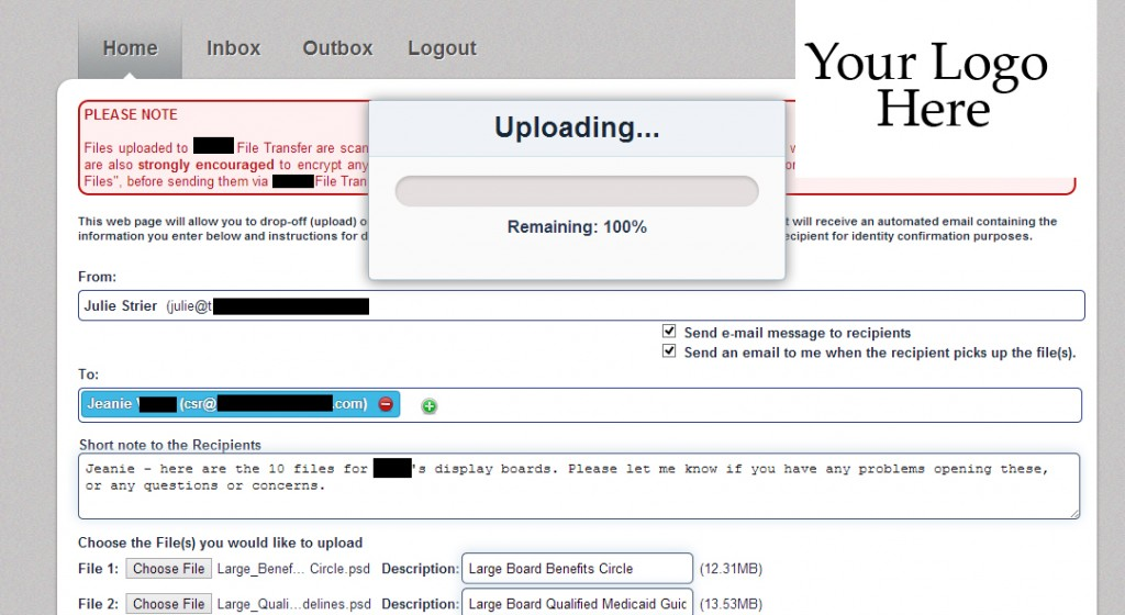 Large File Transfer In Progress Shot 2
